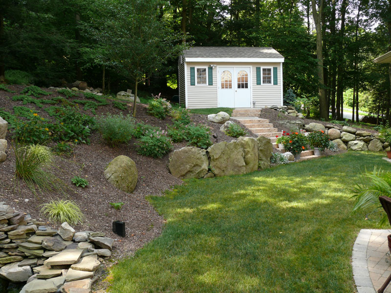 Sloped Backyard Ideas : garden ideas sloping backyard garden ideas sloping rock landscape
